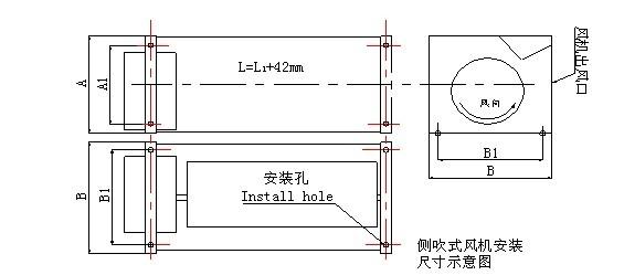 GF干式变压器用横流式冷却风机电磁兼容性(EMC) GF系列冷却风机用于干式变压器时,风机置于变压器线圈下部两侧,将冷风直接吹进变压器的线圈高、低压冷却风道,散热效果明显,可保障变压器的正常运行并延长其使用寿命。(风机开、停及变压器的超温报警、超温跳闸等功能有温控装置提供)。  * 冷却风机A、B区分:以产品铭牌方向电机安装在左侧为B型,右侧为A型。 实例一:GFDD470-150 A 表示:干式变压器横流式冷却风机、单相220V、顶吹式、风机总长度470mm、叶轮直径150mm、电机在右边; 实例二:G